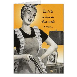 Retro fun bff advice card don't be a needy woman