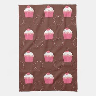 Retro Fun Cupcake Pattern Kitchen Towel