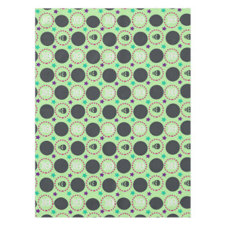 Retro Fun Green Skull Pattern Tablecloth