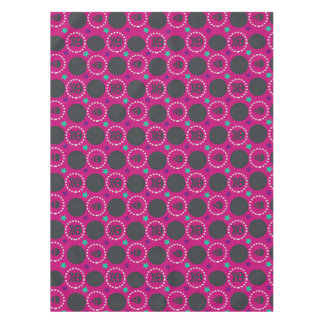 Retro Fun Pink Skull Pattern Tablecloth