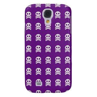 Retro Fun Purple Skull Pattern