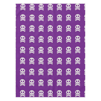 Retro Fun Purple Skull Pattern Tablecloth
