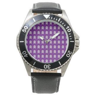Retro Fun Purple Skull Pattern Wristwatches