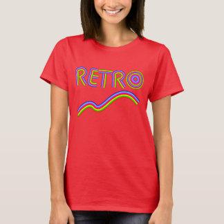 Retro Fun Rainbow Stripe Word-art Cool Graphic T-Shirt