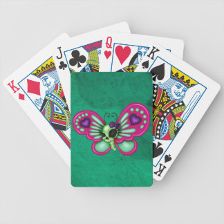Retro Fun Zombie Butterfly Bicycle Playing Cards