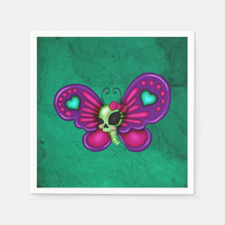 Retro Fun Zombie Butterfly Disposable Napkin