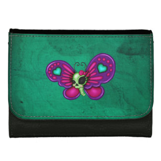 Retro Fun Zombie Butterfly Leather Wallet For Women