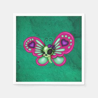 Retro Fun Zombie Butterfly Paper Napkin