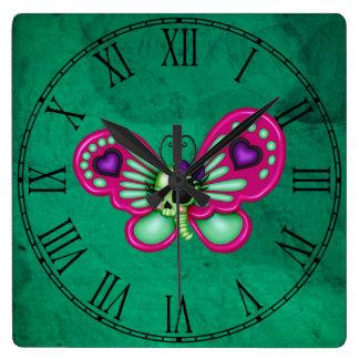Retro Fun Zombie Butterfly Wall Clocks