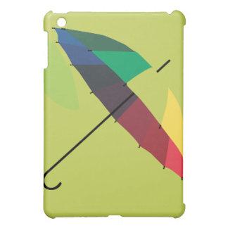 Retro funky bright rainbow umbrella iPad case