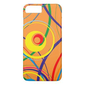 Retro Funky Circle Design iPhone 7 Plus Case