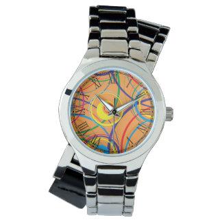 Retro Funky Circle Design Watch