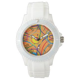 Retro Funky Circle Design Wristwatch