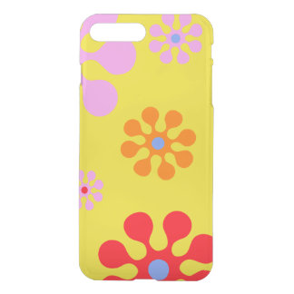 Retro Funky Flowers Yellow  Phone Case