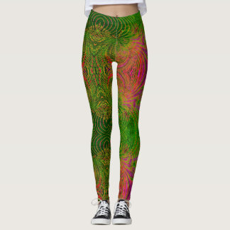 Retro Funky Psychedelic Pattern Legging