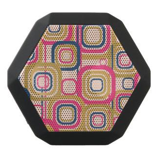 Retro Funky Square Design Black Bluetooth Speaker