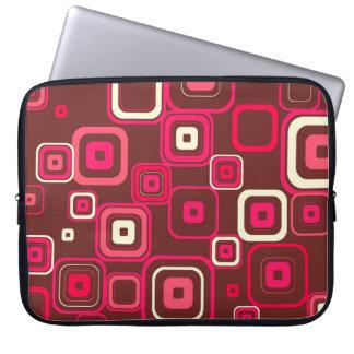 Retro Funky Square Design Laptop Sleeve