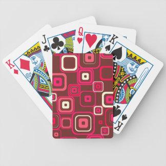 Retro Funky Square Design Poker Deck
