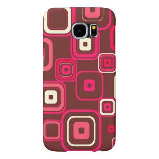 Retro Funky Square Design Samsung Galaxy S6 Cases