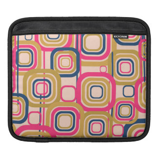 Retro Funky Square Design Sleeve For iPads