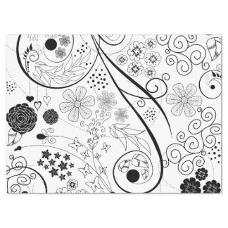 Retro Funky Trendy Pattern Tissue Paper