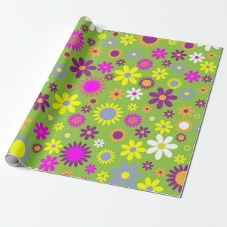 Retro funky wrapping paper