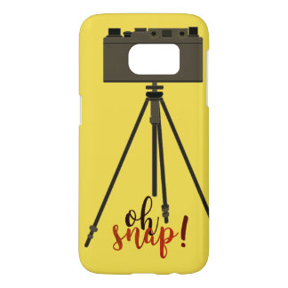 Retro Funny Cartoon Camera Yellow Samsung Galaxy S7 Case