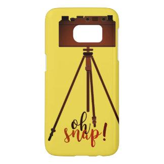 Retro Funny Cartoon Yellow Camera Old Fashion Chic Samsung Galaxy S7 Case