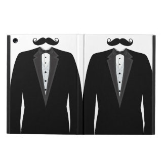 Retro Funny Mr. Mustache Tuxedo Groom iPad Air Case