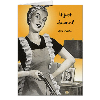 Retro Funny Suburban Lady BFF Keep in Touch Cards