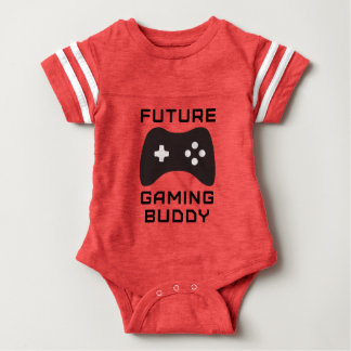 Retro Future Gaming Buddy Baby Bodysuit