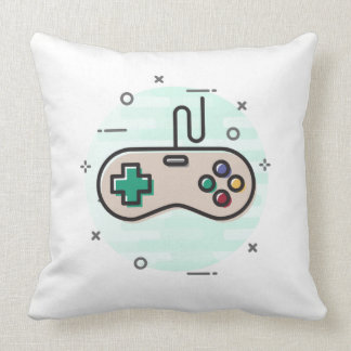 Retro GameConsole Controller w/ Shiraz Backround Throw Pillow