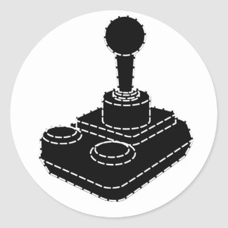 Retro Gamer Classic Round Sticker