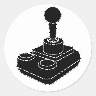 Retro Gamer Round Sticker