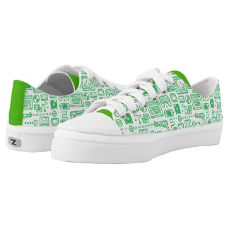 Retro Gaming Low-Tops: Choose Your Gamepad Green Low-Top Sneakers