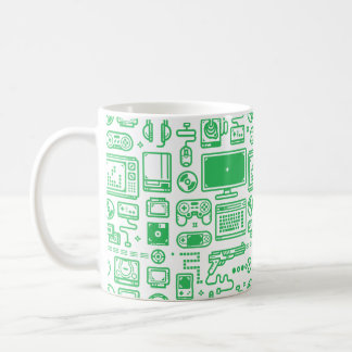Retro Gaming Mug: Choose Your Weapon Green Coffee Mug