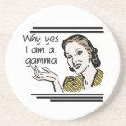 Retro Gamma Tshirts and Gifts Coaster