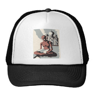 Retro Gandhi Art Trucker Hat