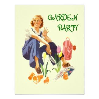Retro Garden Party Invitation ~ Easy to Customize