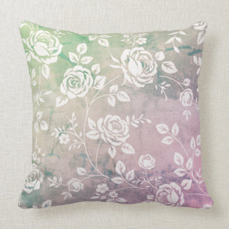 Retro_Garden_Reflections (c) Custom Color_ Throw Pillow