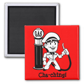 Retro Gas Station Guy Magnet