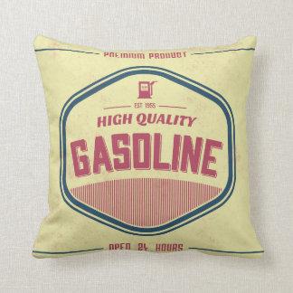 Retro Gasoline Label Designer Accent Pillows
