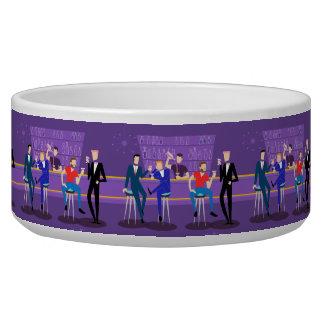 Retro Gay Bar Ceramic Pet Bowl