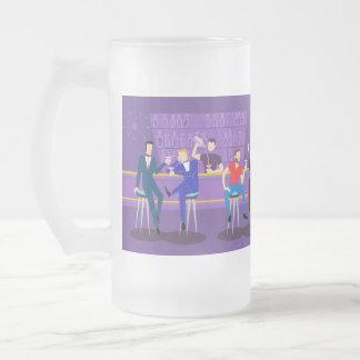 Retro Gay Bar Frosted Glass Mug