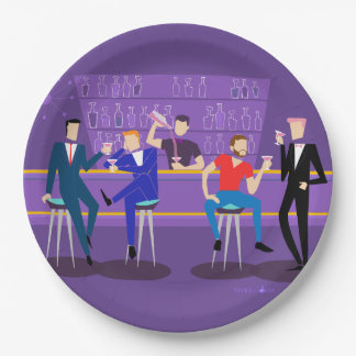 Retro Gay Bar Paper Plate