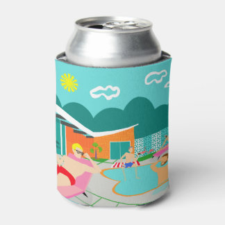 Retro Gay Pool Party Can Cooler