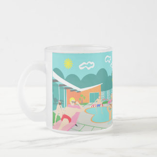 Retro Gay Pool Party Frosted Glass Mug