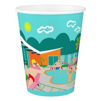 Retro Gay Pool Party Paper Cup