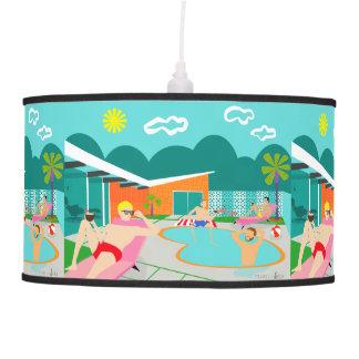 Retro Gay Pool Party Pendant Lamp