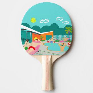 Retro Gay Pool Party Ping Pong Paddle